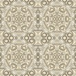 Ornamental beige seamless pattern — Stock Vector