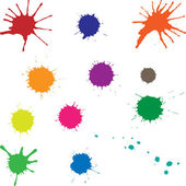Set of colored blots — Stock Vector