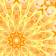Vector de stock : Orange sun pattern