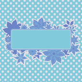 Blue frame with flowers — Stock Vector