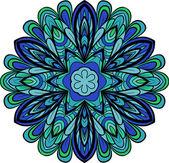 Patrón redondo azul-verde — Vector de stock