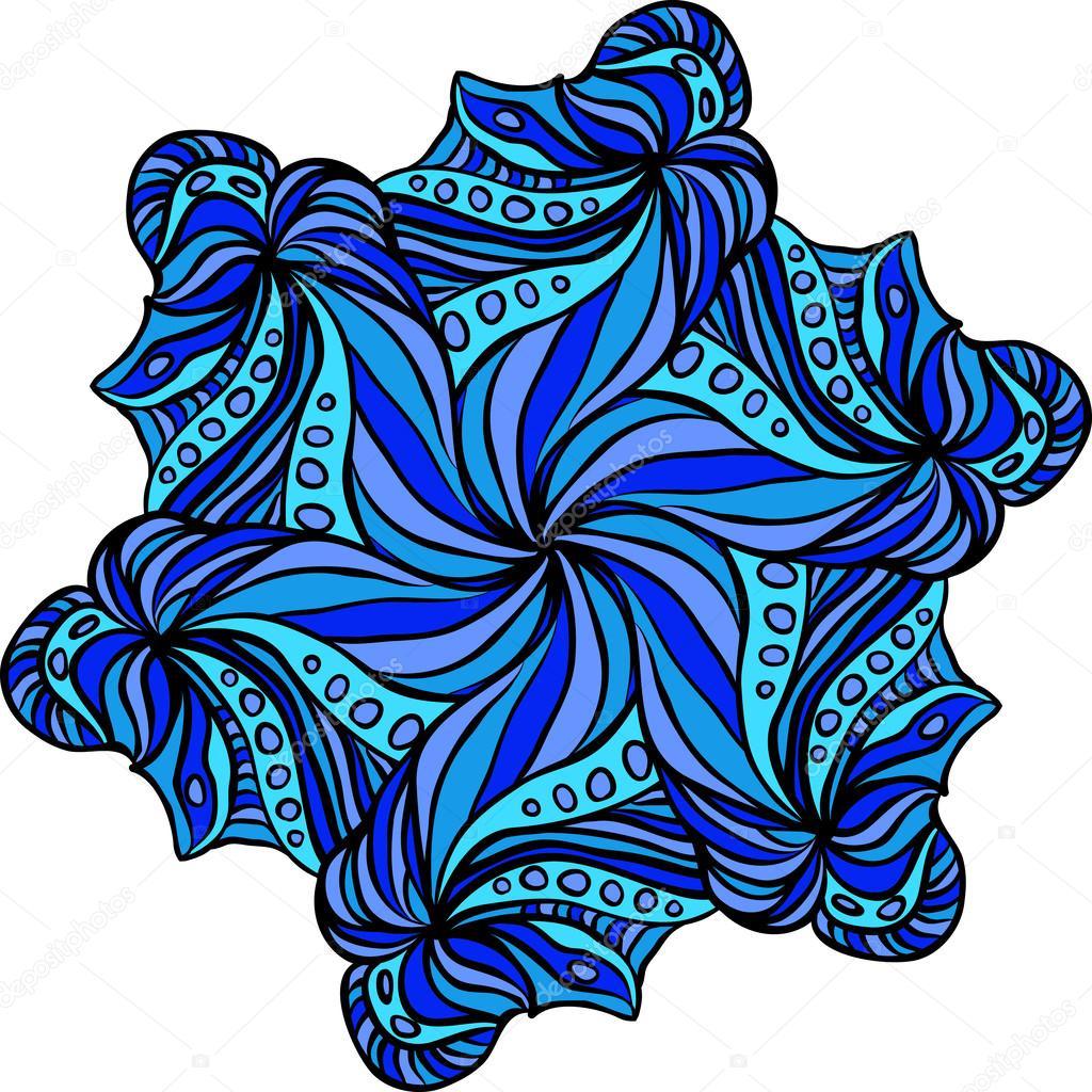 抽象的花朵与三角形几何背景