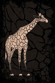 Giraffe on grunge texture — Stock Vector