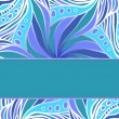 Stock Vector: Blue pattern with stripe