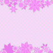 Stock Vector: Pink borders with flowers