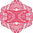 Stock Vector: Red tangle pattern