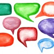 Watercolor speech bubbles — Stock Photo #27933479