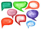Watercolor speech bubbles — Stock Photo