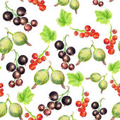 Seamless pattern with berries — Stock Photo