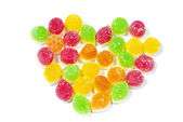 Delicious colorful jelly isolated on white background — Stock Photo