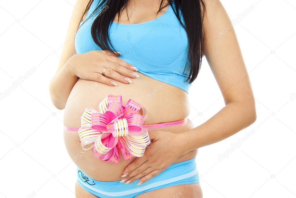 Живот беременная девочкой