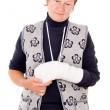 Womwith broken arm — Stock Photo #14025326
