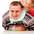 A little girl and dad are played — Stock Photo #14025508