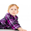 A little girl plays, look out — Stock Photo #14027184