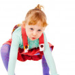 The little girl stands up — Stock Photo #14027551