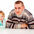 The little girl repeats for dad — Stock Photo #14027563