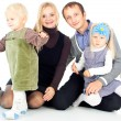 Family with children — Foto Stock
