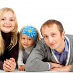 幸福的家庭和女儿 — 图库照片
