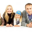 Stock Photo: Happy family with children