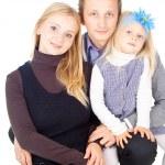 快乐的父亲和母亲和女儿 — 图库照片 #16065695