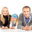 Mom dad and daughter — Stockfoto