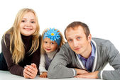 Happy family with a daughter — Stock Photo