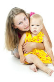Mother of the little beautiful baby — Stock Photo
