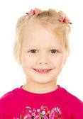 Portrait of a beautiful blonde child — Stock Photo