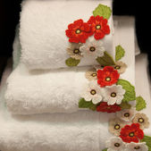 Decorated towels — Stock Photo