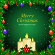 Vector Christmas & New-Year's greeting card — Image vectorielle