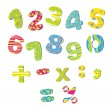 Colorful numbers for children - Stock Vector
