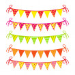 Royalty-Free Stock Vector Image: Festive colored flags