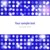 Leuchtende blau abstrakt — Stockvektor