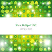 Abstract glowing green background — Stock Vector
