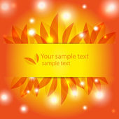 Orange abstract sunny background — Stock vektor