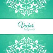 Pétalo ornamento verde con espacio para texto — Vector de stock