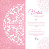 Pink petal pattern with space for text — Stock Vector