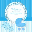 Baby Shower Announcement boy - Stock Vector