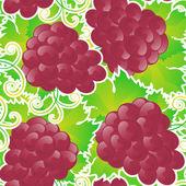 ブドウのシームレスなパターン — ストックベクタ