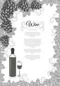 Wine list design — Stock Vector