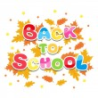 Back to school inscription multicolored letters — Stock Vector