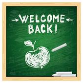 School board welcome back — Stock Vector