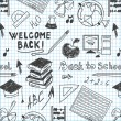 Seamless pattern back to school in a notebook — Vecteur #29191081