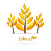 árbol otoñal con hojas de otoño — Vector de stock