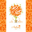 Autumn tree background from hearts — Stock Vector #29388107
