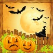 Background for halloween pumpkins — Stock Vector