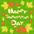 Stock Vector: Happy Thanksgiving card with the inscription