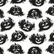 Seamless pattern of pumpkins for Halloween — 图库矢量图片