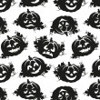 Seamless pattern of pumpkins for Halloween — Imagen vectorial