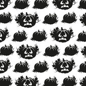 Seamless pattern in black and white pumpkins — Stock Vector